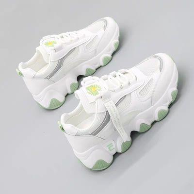 女鞋夏季新款运动鞋女透气网面休闲鞋小白鞋女学生跑步老爹鞋子潮