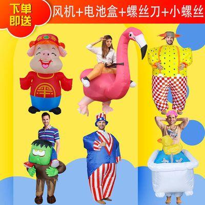 新款COS充气服圣诞节服装成人山姆大叔卡通人偶服饰舞台活动衣服