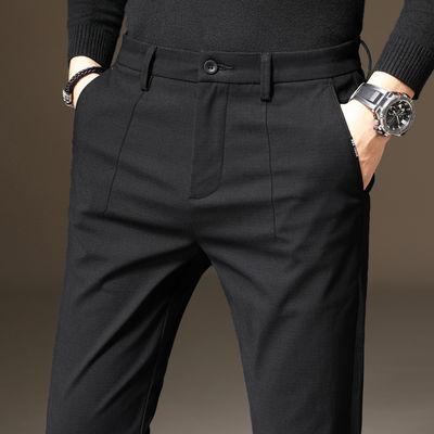 春夏季薄款长裤子男裤西装裤西裤修身直筒男士商务休闲裤男装新款