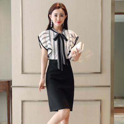 新款韩版春秋连衣裙女装洋气裙子夏季女修身收腰大码高档开叉短裙