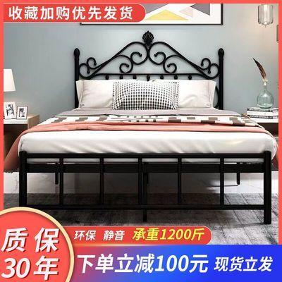铁艺床双人铁架床网红公主欧式现代简约成人出租屋宿舍单人儿童床