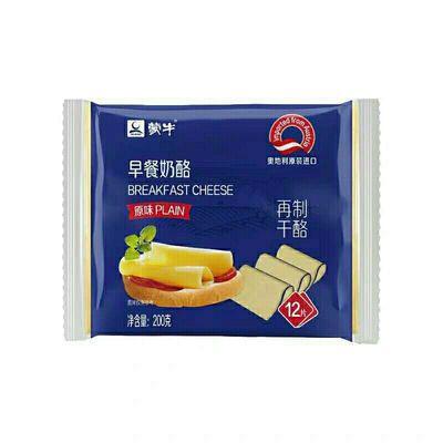 蒙牛芝士片200g12片安佳独立包原味低脂百吉福妙可蓝多干酪奶酪片