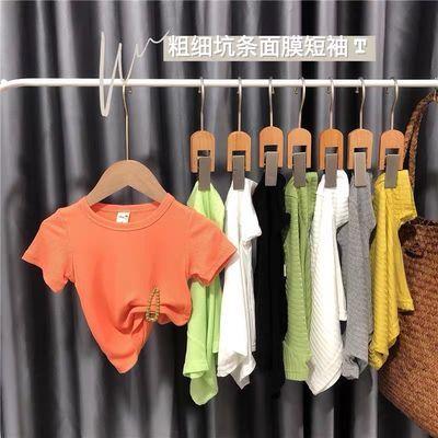 女宝宝短袖韩版小童洋气女童T恤2020年夏季男童婴儿夏款上衣薄款