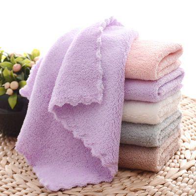 小毛巾比纯棉吸水毛巾柔软小手绢洗脸巾小方巾新生婴儿童毛巾批发