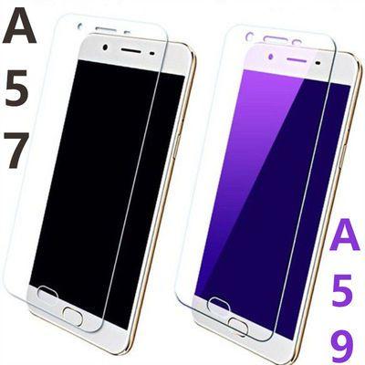 oppoa57钢化膜a57m/a57t/a57s/a59s/a59ma59全屏蓝光玻璃手机贴膜