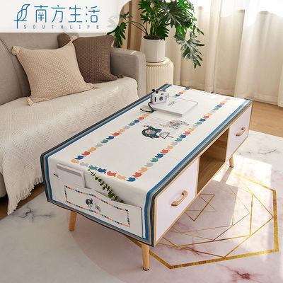 北欧ins风网红茶几布防水免洗防烫棉麻布艺长方形桌垫 小茶几桌布
