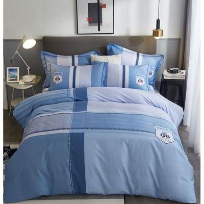 水星家纺四件套正品纯棉全棉春夏款单双人斜纹1.8m米被套床上用品