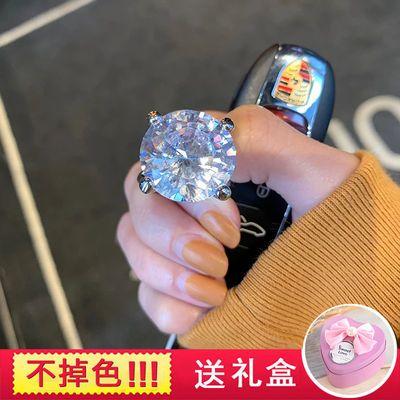 韩国网红款钻戒钥匙扣汽车钥匙链包包挂件礼物女水晶锆石高档气质