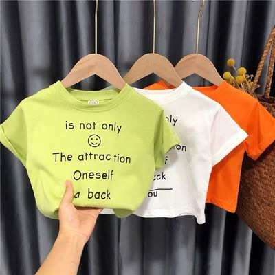 儿童短袖t恤宽松2男童上衣休闲女宝宝体恤2020年夏季女童1洋气3岁