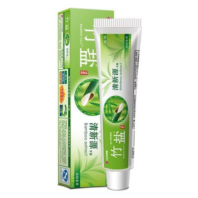LG竹盐牙膏 清新源 清韵茶香含竹盐成分 清新口气 150g