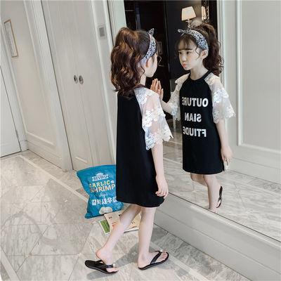 女童T恤裙2020新款夏装儿童中长款半袖体恤中大童短袖洋气棉上衣