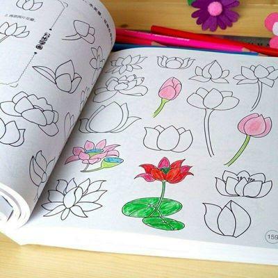 宝宝涂色画2-3-6岁幼儿园涂鸦填色绘画书启蒙图画册儿童书画画本