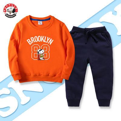 史努比儿童套装女童秋装套装新款中大童秋装男童套装秋装卫衣裤