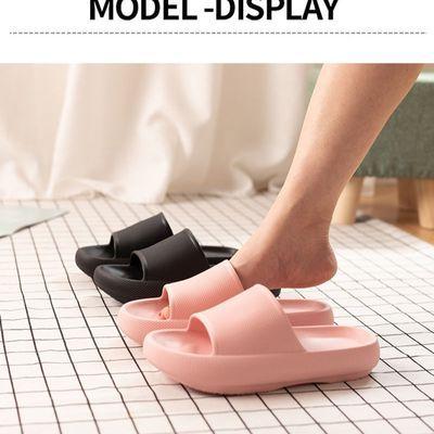 厚底松糕凉拖鞋女士夏季外穿防滑加厚软底拖鞋日式面包家居沙滩鞋