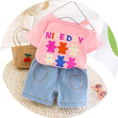 女童装nice短袖二件套2020新款夏款6个月婴儿1-2岁小宝宝纯棉衣服