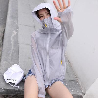 新款防晒衣女学生韩版2020夏季短款薄外套潮骑车长袖防晒服空调防