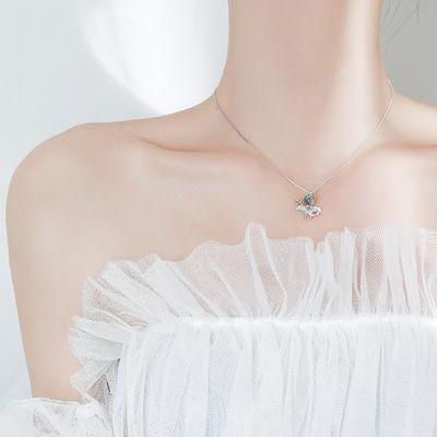 小恶魔项链女纯银月光石项链女韩版学生简约个性锁骨链ins酷网红