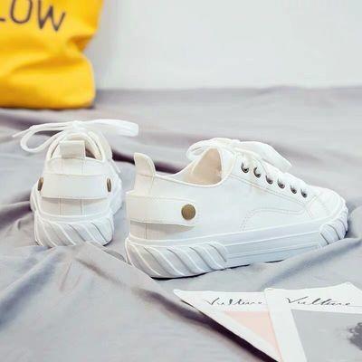 小白鞋女2020春夏新款韩版百搭单鞋学生帆布鞋港风平底休闲板鞋子
