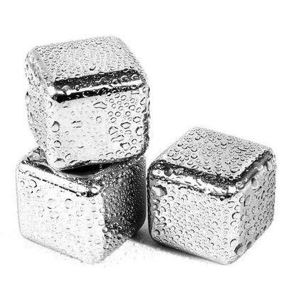 304速冻不锈钢冰块铁金属冰粒家用威士忌冰酒石啤酒雪碧冰镇神器