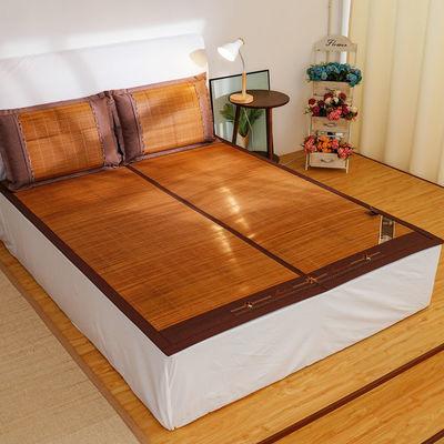 高档双面竹席可折叠碳化竹席双人1.5米床1.8米床竹凉席子夏季凉席