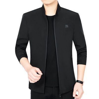 2020春季新款中年男士夹克立领短款薄款外套时尚休闲男装夹克衫男