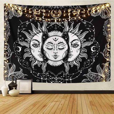 北欧ins风挂布 太阳女花纹床头客厅少女房间墙面背景墙装饰布挂毯