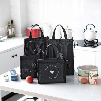 手提保温袋子长方形保温饭盒袋便当包带饭午餐手拎大号保鲜饭盒包
