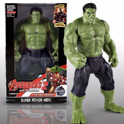 新款动漫手办模型玩具复仇者联盟3发光绿巨人美国队长雷神钢铁侠