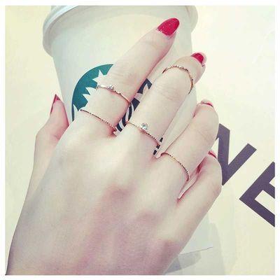 日韩街头潮流戒指女简约学生清新少女心ins超仙时尚个性女款指环