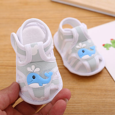 【买2双送5双袜子】0-1岁宝宝学步鞋透气舒适软底防滑婴儿鞋凉鞋