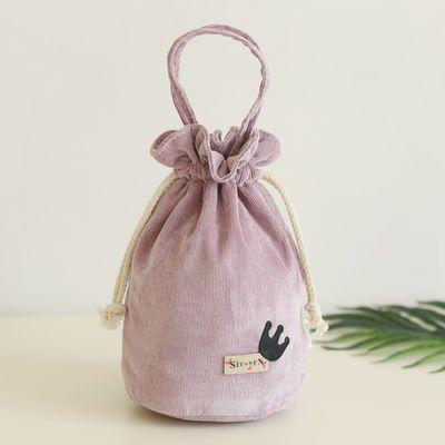 夏季韩版束口手拎包 女士水桶零钱袋 手机杂物小包包