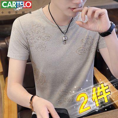 棉卡帝乐鳄鱼短袖T恤夏季圆领半袖学生韩版体恤男装潮流上衣服男