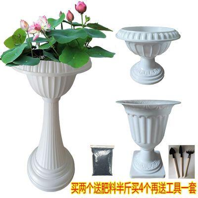 水培碗莲花盆土养两用花盆树脂塑料花盆欧式绿植种花种菜多肉花盆
