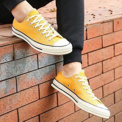 1970S帆布鞋高帮情侣鞋ins男鞋女鞋运动低帮休闲鞋潮流学生滑板鞋