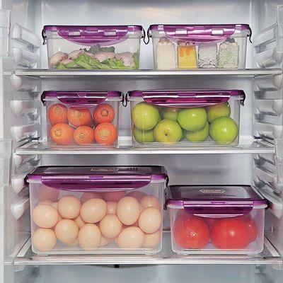 塑料保鲜盒7件套6件四件套微波盒饭盒便当盒冰箱收纳盒厨房储存盒