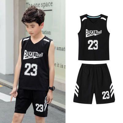 男童篮球服中小学生球队训练队服小学初中纯棉儿童无袖运动套装潮