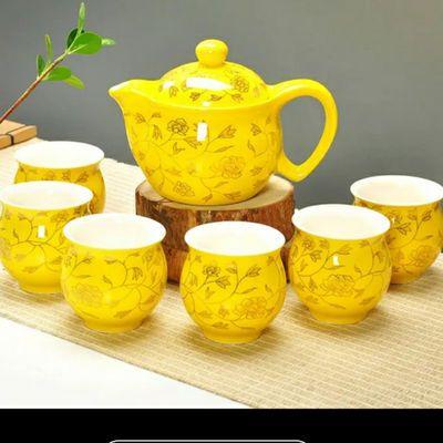 高档茶具套装防烫双层杯功夫茶具整套青花瓷茶壶茶杯陶瓷带茶盘