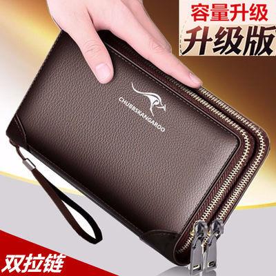 【双拉链手包】男手包手拿包男包软皮质感长短款钱包商务男士手包