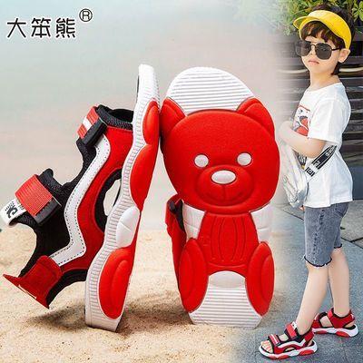 大笨熊男童小熊沙滩凉鞋软底新款网红鞋帅气中大童学生儿童女童