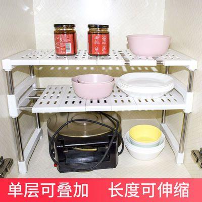 可伸缩置物架衣柜分层隔板柜子隔层厨房桌面橱柜下水槽收纳架鞋架