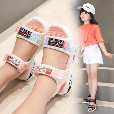 女童凉鞋2020夏季新款女孩按摩鞋底凉鞋小学生沙滩凉鞋小公主凉鞋