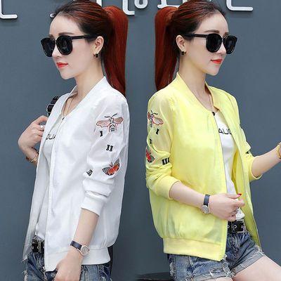 2020新款夏季短款小外套女装长袖休闲韩版刺绣棒球服夹克外衣服薄