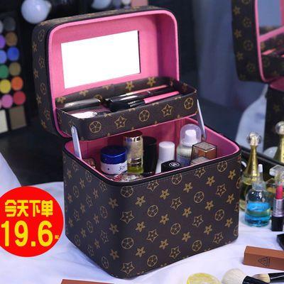 多功能化妆包双层大容量韩版女大小号外出便携网红化妆品收纳盒箱