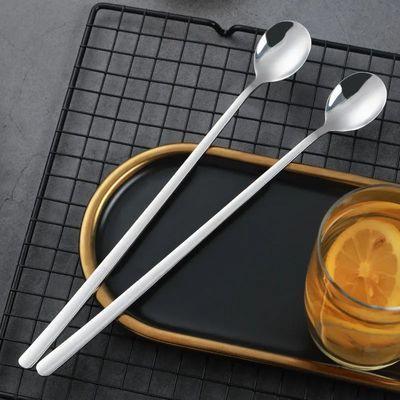 304不锈钢长柄冰勺搅拌勺小汤匙调料咖啡勺子加长创意甜品蜂蜜勺