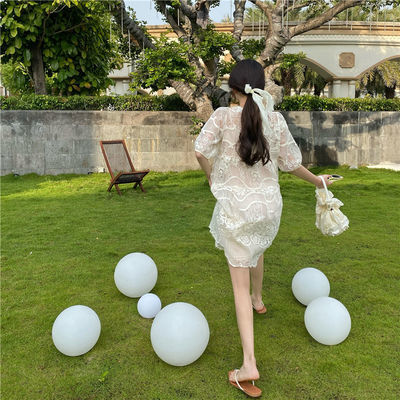 【好质量】实拍夏季新款韩版甜美小清新宽松显瘦蕾丝娃娃连衣裙女