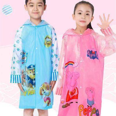 儿童雨衣带书包位幼儿园小学生男童女童雨披儿童雨具卡通雨衣厚款