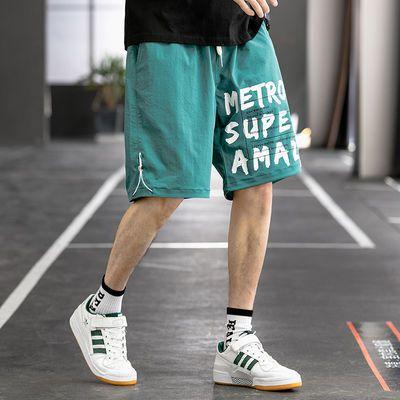 Mexican稻草人休闲裤男短裤子男潮流夏季休闲运动裤男五分沙滩裤