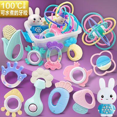 可水煮牙胶新生婴幼儿宝宝手摇铃磨牙棒益智玩具套餐0-3-6-12个月