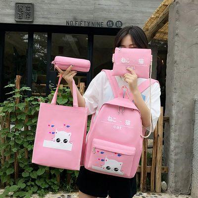 热销爆款2020新款龙猫卡哇伊日韩女学生原宿双肩包四件套可爱ins