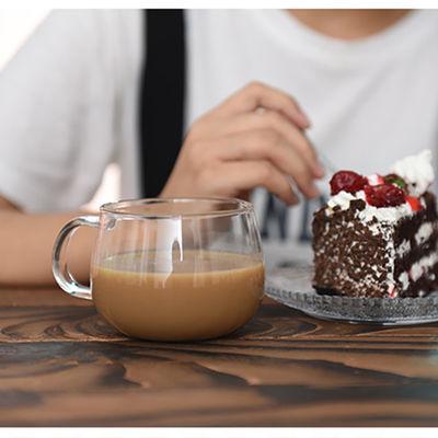 2020款居家买三送一耐热玻璃水杯茶杯 花茶杯透明牛奶杯咖啡杯早